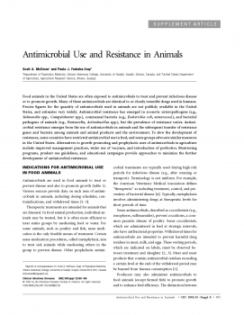 Antimicrobial Use and Resistance in Animals