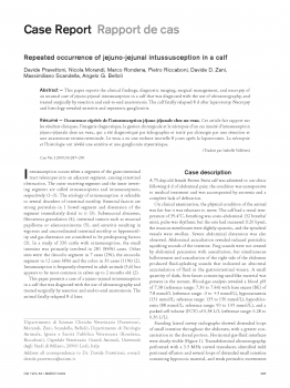 Repeated occurrence of jejuno-jejunal intussusception in a calf