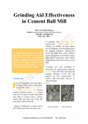 Grinding Aid Effectiveness in Cement Ball Mill pdf