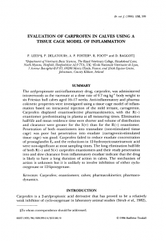 Evaluation of carprofen in calves using a tissue cage model of inflammation