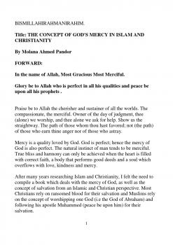 THE CONCEPT OF GOD S MERCY IN ISLAM AND CHRISTIANITY