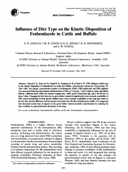 Influence of diet type on the kinetic disposition of fenbendazole in cattle and buffalo