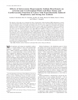 Effects of Intravenous Hyperosmotic Sodium Bicarbonate on Arterial and Cerebrospinal Fluid Acid-Base Status and Cardiovascular Function in Calves