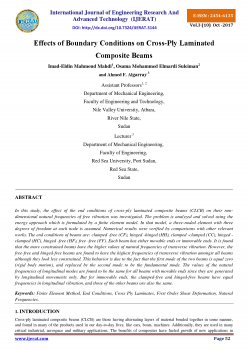 Effects of Boundary Conditions on Cross-Ply Laminated Composite Beams