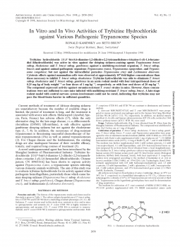 In Vitro and In Vivo Activities of Trybizine Hydrochloride against Various Pathogenic Trypanosome Species