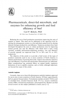 Pharmaceuticals, direct-fed microbials, and enzymes for enhancing growth and feed efficiency of beef cattle