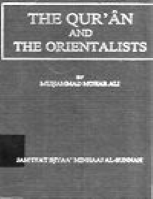THE QUR 039 AN AND THE ORIENTALISTS: AN EXAMINATION OF THEIR MAIN THEORIES AND ASSUMPTIONS