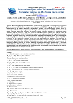 Deflection and Stress Analysis of Fibrous Composite Laminates