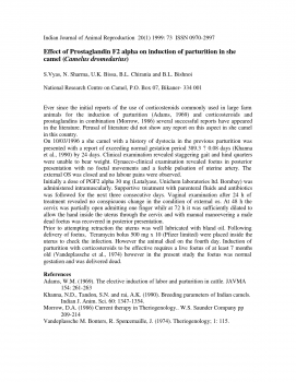 Effect of Prostaglandin F2 alpha on induction of parturition in she camel