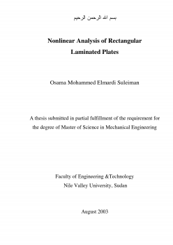 master thesis entitled Nonlinear Analysis of Rectangular Laminated Plates
