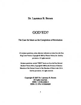 God rsquo ed : The Case for Islam as the Completion of Revelation