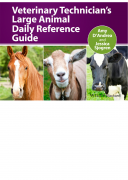 كتاب Veterinary Technician' s Large Animal Daily Reference Guide pdf