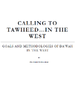 CALLING TO TAWHEED IN THE WEST