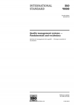 ISO 9000:2015 Quality management systems
