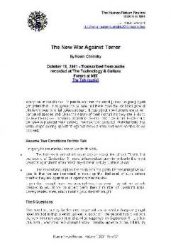 The New War Against Terror PDF Noam Chomsky