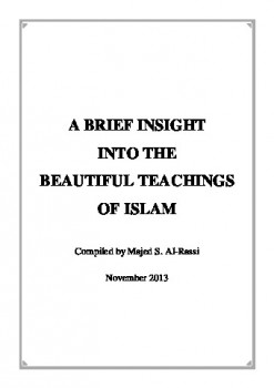 A BRIEF INSIGHT INTO THE BEAUTIFUL TEACHINGS OF ISLAM