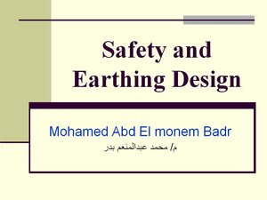 Safety and Earthing Design pdf