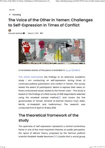 The Voice of the Other in Yemen: Challenges to Self-Expression in Times of Conflict pdf