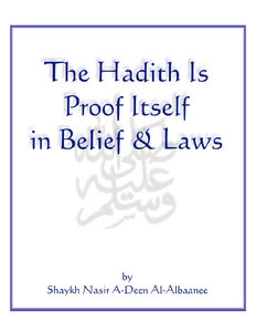 كتاب The Hadith is Proof Itself in Belief amp Laws pdf