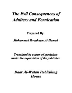 كتاب The Evil Consequences of Adultery pdf