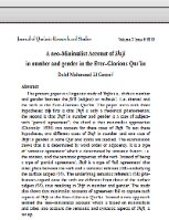 A neo-Minimalist Account of Shift in number and gender in the Ever-Glorious Qurān