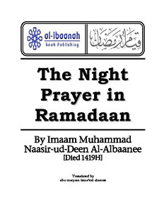 كتاب Night Prayer in Ramadan pdf