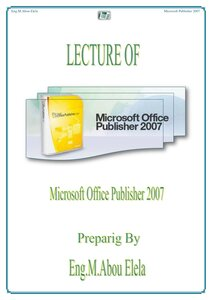 كتاب Microsoft Publisher 2007 pdf